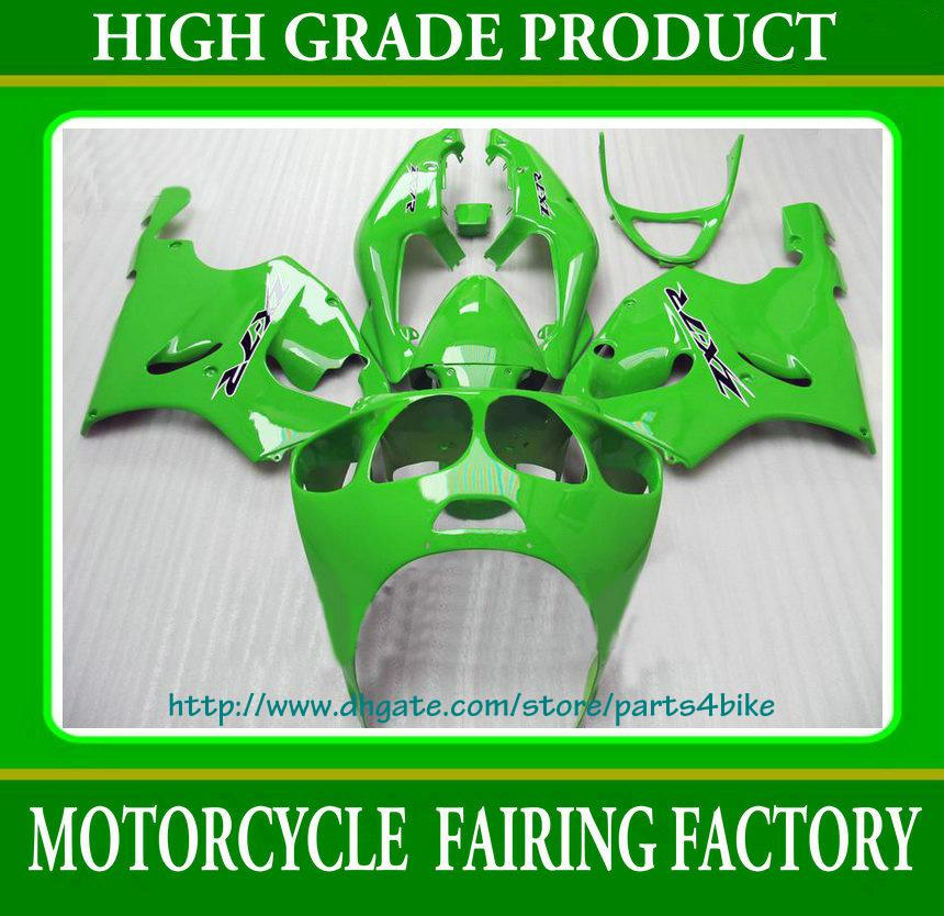 Custom race fairing kit for Kawasaki Ninja ZX7R 96 97 98 99 01 02 03 ZX 7R ZZR 750 all green RX1a