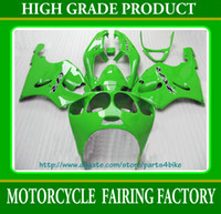 Wholesale Custom Fairings For Zx7r - Custom race fairing kit for Kawasaki Ninja ZX7R 96 97 98 99 01 02 03 ZX 7R ZZR 750 all green RX1a