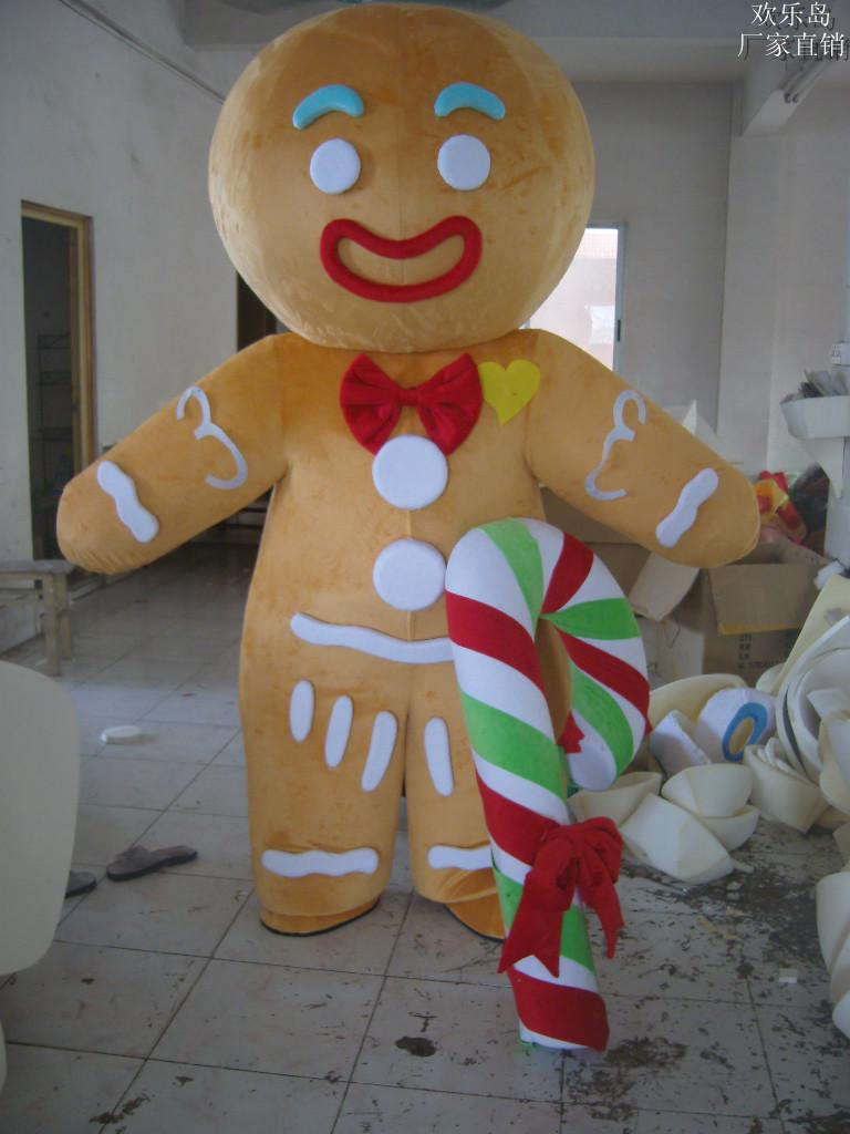Hot Sales Gingerbread Man Mascot Costume Adult Size ! Cheerleader Costume Elf Costume From Meilirenwu007 $522.62| Dhgate.Com : gingerbread costume for adults  - Germanpascual.Com