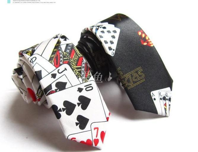 جديد اللعب CARDS نمط العلاقات الحرير الرجال ربطة العنق الرجال العلاقات عنق الرجال التعادل تصاميم مختلطة