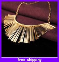Wholesale Silver Bib Jewelry - New Arrival Fashion LadyTassels Collar Necklace Personality Jewelry Choker Bib Gold Silver