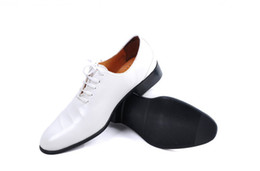 Bridegroom Wedding Shoes Canada - NEW White and black style Groom shoes men's wedding shoes leather shoes Prom shoes bridegroom shoes 14598
