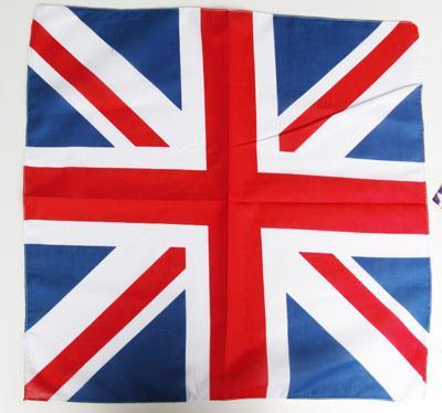 Vente chaude UK Union Jack drapeau bandana Head Wrap Écharpe Cou Réchauffeur Double Face Imprimer