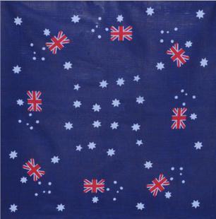 Venda quente 100% Algodão Bandanas Nacionais Australianas Bandanas Envoltório Cabeça Cachecol Faixa De Pulso