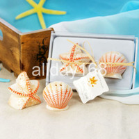 Wholesale Wedding Favors Sea Shells - Sea star shell Salt & Pepper Shakers Wedding Favor Gift Unique Wedding Favors Wedding Supplies 10pairs lot