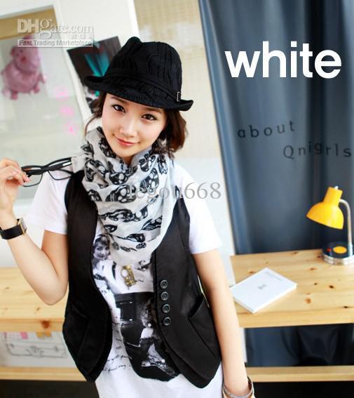 2015 hot-venda Coreia do Sul lenço do lenço do crânio / lenço / xale /