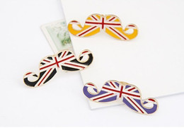 Wholesale Flag Rings - 2013 New Gold Alloy European Type Avanti Union Jack Flag Beard Rings Opening Size kc2