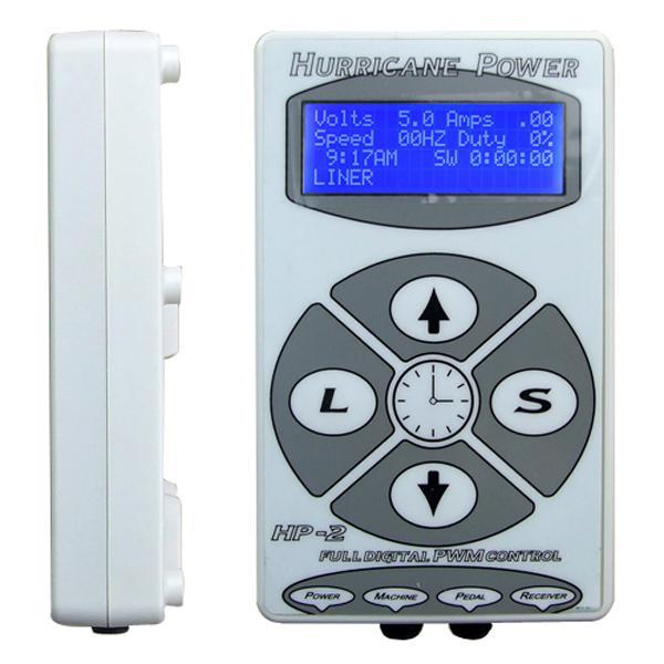 Tattoo Power Supply Hurricane Digital LCD Affichage Couleur Blanc Pour Tatouage Gun Needle Ink Grip Kits