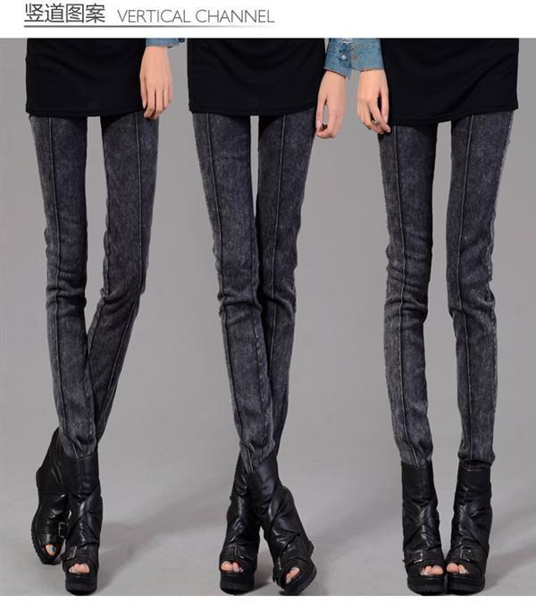 Tight black skinny jeans