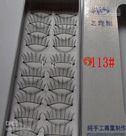 / lote + 10 pares em um conjunto mix natural ou grosso falsos cílios postiços eye lash
