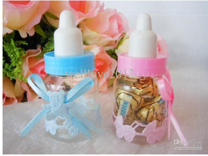 Wholesale new baby shower favors little bottle baptism for Baby bottles decoration