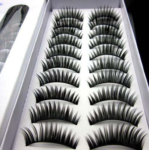 hot Mascara thick false eyelashes wholesale price 10 pairs)