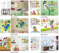 Wholesale People Window - hot cute designer 45*60cm removable Wall windows Sticker paper poster children Home Decor Room