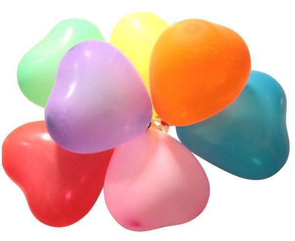 Venda quente decoração de casamento balões 6 # forma de coração cor sólida Festival bar atividades de festa