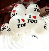 Wholesale chinese new year goods online - Hot Selling Wedding Decoration Balloons inch Round Proposal Balloon Romantic with I LOVE YOU Beautiful for lovers good quality dropship