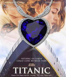 Wholesale Titanic Ocean Heart Necklace - free shipping TITANIC the heart of Ocean necklace silver,fashion heart necklace