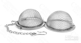Wholesale Tea Infusers Pots - Tea Strainer Ball 5cm Tea Infuser Stainless Steel Tea Pot Infuser Sphere Mesh