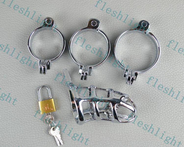 QUENTE: 3 Anéis por Castidade Cock, brinquedo homens sexo / dispositivo castidade Homem / zinco liga cromagem Castidade