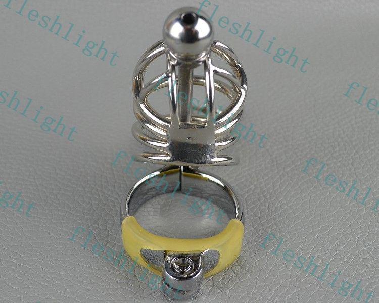 3rings catetere gabbia di castità, dispositivo uretrale spina castità / Maschio Bondage castità Gimp GAY SM