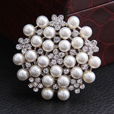 2013 Moda Broches Multi-contas Pinos dama de honra florista do casamento Pérola Rhinestone Tara Novas