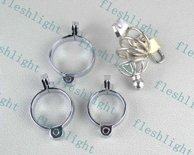 3rings cage de chasteté cathéter, le dispositif de chasteté bouchon urétral / mâle chasteté bondage Gimp SM GAY