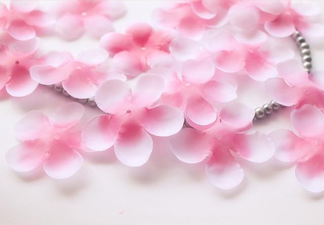Wedding decorations artificial petals wedding petals party decorative petals colorful cherry blossom