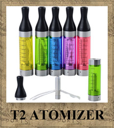 Wholesale Electronic Cigarette Cotton Clearomizer - T2 ATOMIZER CLEAROMIZER 2.4ML Multi Cotton Threads Electronic Cigarette for ego-t -C -W CE4 CE5 CE6