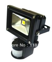 inundación infrarroja al por mayor-10W LED PIR Sensor de movimiento infrarrojo pasivo Blanco cálido / Luz de inundación blanca fresca para seguridad al aire libre