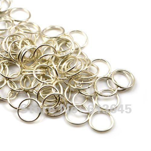 200 шт. / лот, DIY мода серебряный тон круг кольца разъем шарф аксессуары, Бесплатная доставка, AC0020