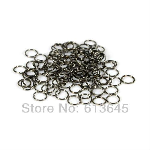 100PCS/LOT, DIY Black Color Circle Connector Rings Scarf Pendant Accessories, Free Shipping, AC0091B