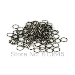 Pendant Connector Rings UK - 100PCS LOT, DIY Black Color Circle Connector Rings Scarf Pendant Accessories, Free Shipping, AC0091B