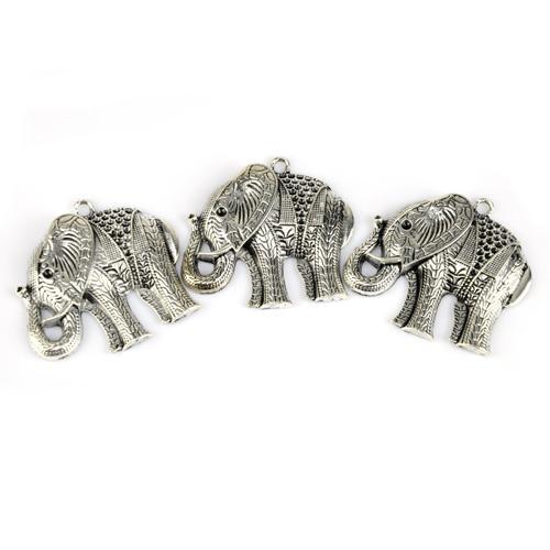 12 PÇS / LOTE, Top DIY Moda Jóias Colar Cachecol Descobertas Acessórios Alloy Charme Elefante Pingente, Frete Grátis, AC0016