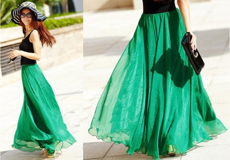 Wholesale Skirts At $16.43, Get New Fashion Chiffon Long Skirt ...