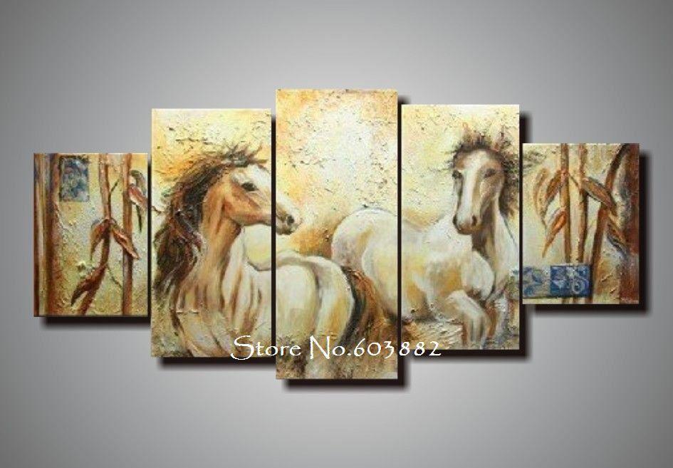 2018 Handmade Painting Art Canvas Modern Art Deco Abstract Horse ...