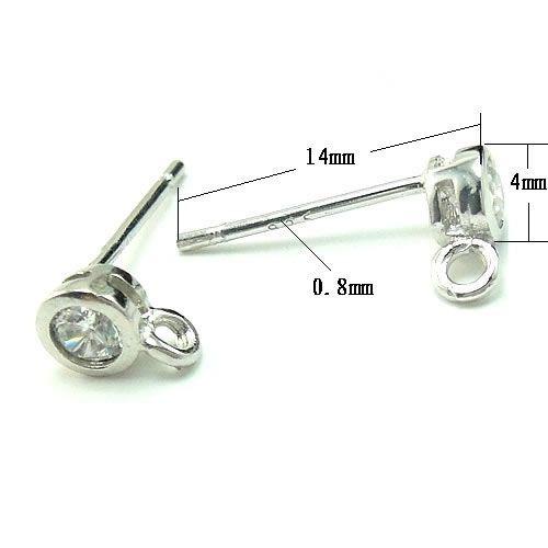 20 teile / los 925 Sterling Silber Ohrring Nagel Pins Nadeln Erkenntnisse für DIY Handwerk Modeschmuck Geschenk 0.8x4x14mm WP294
