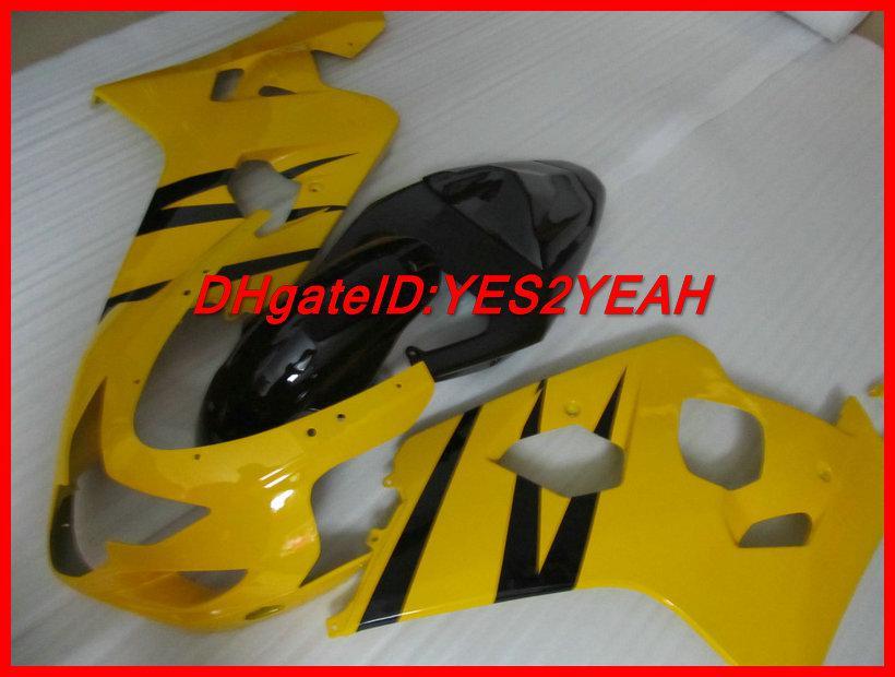 Gul Fairig Body Kit för Suzuki GSXR 600 750 04 05 K4 Bodywork GSX-R 2004 2005 GSXR600 GSXR750 Fairings Set + Presenter