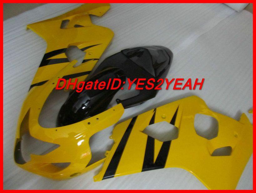 Kit corpo amarelo Fairig para SUZUKI GSXR 600 750 04 05 K4 Carroçaria GSX-R 2004 2005 GSXR600 GSXR750 Carenagens + presentes