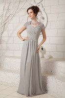 Wholesale Strapless Mother Bride Dress - Custom Made! 2016 New Sexy Strapless Free Jacket Lace Beaded Short Sleeves Chiffon Mother of The Bride Dresses