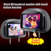 Wholesale Touch Screen Headrest Monitors - Car 9 inch 16:9 HD headrest monitor with touch button function S684