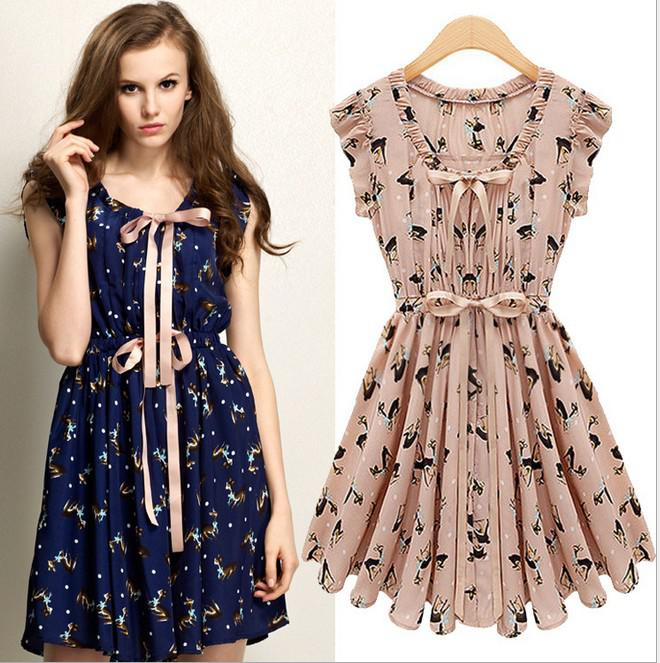 Fashion Ladies Pink Summer Party Dresses Mi Lu Design Casual ...