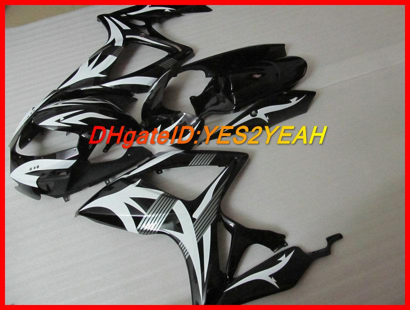 Black White Kit de carenagem para SUZUKI GSXR 600 750 K6 GSX-R 600 750 2006 2007 Carroceria GSXR600 GSXR750 06 07 Carenagens