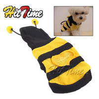 Wholesale Dog Dressed Bumble Bee - Bumblebee Dog Halloween Costume Clothes Pet Apparel Bumble Bee Dress Up [8717|99|01]