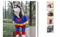 Wholesale Dog Clothes Superman Xl - Pet Dog Clothes Costumes Superman Suit size XS S M L XL