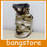 Wholesale Military Dog Clothing - NEW Dog Coat Pet Clothes Camouflage Hoodie Army Jacket Military Clothes S M L XL