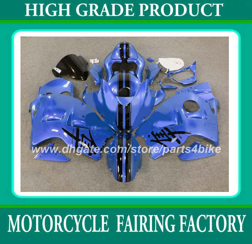 Kit de carénage de course pour suzuki GSX R1300 96 97 - 06 07 GSXR 1300 1996 - 2006 2007 carénages haut de gamme bleu noir RX1a