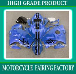 Wholesale 1996 Hayabusa - Racing fairing kit for suzuki GSX R1300 96 97 - 06 07 GSXR 1300 1996 - 2006 2007 fairings high grade blue black RX1a