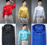 Wholesale Groom Groomsmen Shirts - New Style Men Wedding Shirt Groom Shirts 6 Colors Groomsman Shirt 6 Sizes H578