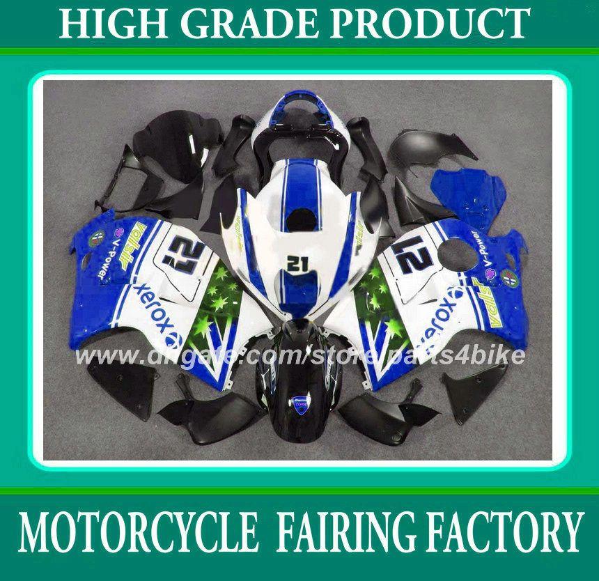 Kit de carenagem para suzuki GSXR 1300 96 97 - 06 07 GSX R1300 1996 - 2003 2004 2007 carenagem conjunto de carroçaria azul RX3a