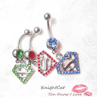 Wholesale Superman Piercing - Superman Fashion Accesories 10Pcs CC064 navel belly Rings Body piercing Jewelry