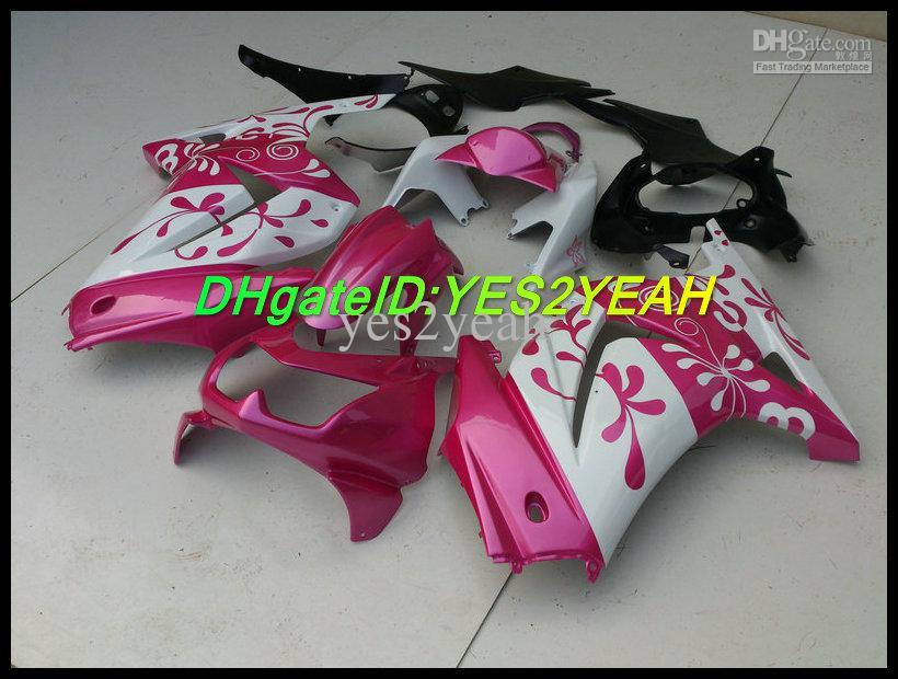 Kit de carenado de flores rosa para KAWASAKI Ninja ZX250R ZX 250R 2008 2012 EX 250 08 09 10 11 12 carenados conjunto